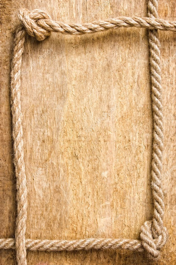Frame made of old rope stock photo alan64 5848967 Rope photo frame