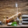 Stock Photo: Vials with essential oils
