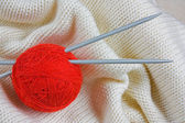 Balls with thread for knitting — Stockfoto