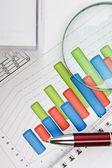 Documenti e grafici tabelle — Foto Stock