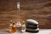 şişeleri ile temel yağlar — Stok fotoğraf