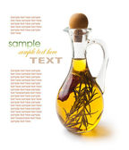 Vegetable oil with spices — Stock Photo