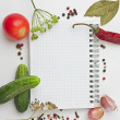 Notebook with recipes — Stock Photo #6529821