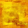 Gold paint on wooden panel - Stock Photo