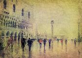 Vintage vista de Veneza — Fotografia Stock