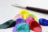 Pensel och akryl — Stockfoto