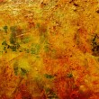 Oil glazes on painted canvas — Stock Photo