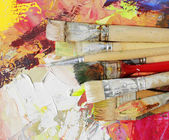 Paint brushes — 图库照片