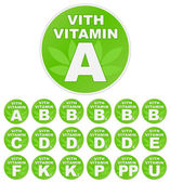 """Seth of stickers """"with vitamin"""" — Stock Vector"""