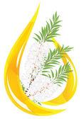 Melaleuca - tea tree. Stylized drop of essential oil. — Stock Vector