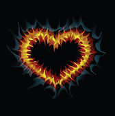 пылающее сердце. векторные иллюстрации. — Cтоковый вектор