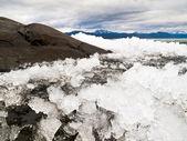 Ice-Break at Lake Laberge, Yukon Territory, Canada — Stock Photo