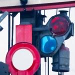 Detail of old railway semaphore — Stock Photo #5898870
