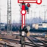 Old railway semaphore — Stock Photo #5898910