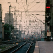 Railway tracks at central station — Stock Photo #5898915