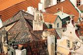 Roofs downtown Prague, Czech Republic, Europe — Stock Photo