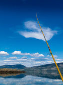 Fishing on Lake Laberge, Yukon Territory, Canada — Stock Photo