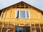 Spray foam insulation conserves energy — Stock Photo
