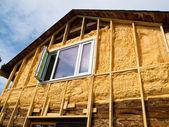 Spray foam insulation conserves energy — Stock Photo
