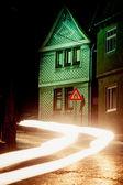 At night in Thuringia village, Germay — Stock Photo