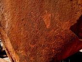 Petróglifos de anasazi histórico — Foto Stock