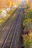 Railway Embankment in Fall — Foto Stock