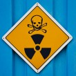 Stock Photo: Deadly radiation warning sign
