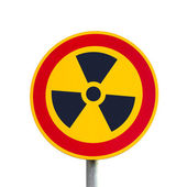 Radioactive Sign, isolated — Stock Photo