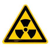 Radioactive Sign isolated on white — Stock Photo