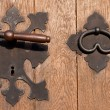 Iron door hardware — Stock Photo