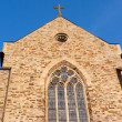 Catholic stonewall church — Stock Photo #6057165