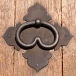 Iron door handle — Stock Photo