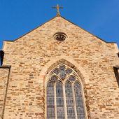 Catholic stonewall church — Stock Photo