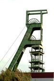 Coal mine headgear tower — Stock Photo