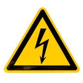 Signo de alto voltaje aislado en blanco — Foto de Stock