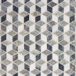 tile mosaic forming 3d geometric pattern — Stock Photo