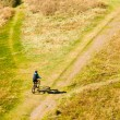Mountain Biker Off-Road - Stock Photo