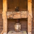 Medieval cider press — Stock Photo