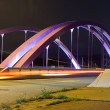 Pink Road Bridge at Night — Stock Photo #6200546