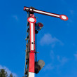 Old railway semaphore - Stock Photo