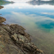 Stock Photo: Lake Laberge, Yukon T, Canada, on calm summer day