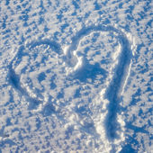 Snow Heart of Love — Stock Photo