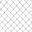 Chain-link fence isolated on white — Stock Photo