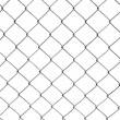 Royalty-Free Stock Photo: Chain-link fence isolated on white