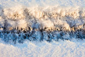Ice and snow crystals — Stock Photo