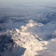 Aerial view of snowcapped peaks in BC, Canada — Stock Photo #6539577