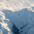 Aerial view of snowcapped peaks in BC, Canada — Stock Photo