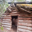 Old traditional log cabin rotting in Yukon taiga — Stock Photo #6539694