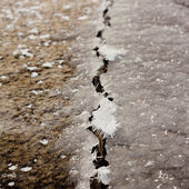 Ice Crack — Stock Photo