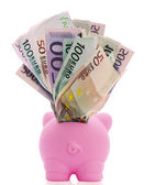 Overstuffed Piggy Bank — Stock Photo